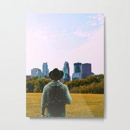 Minneapolis Skyline Views-Minnesota Metal Print
