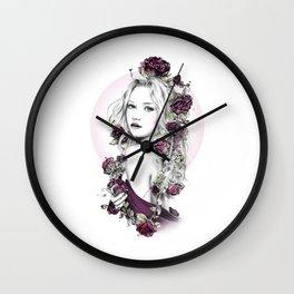 ramblin' rose Wall Clock