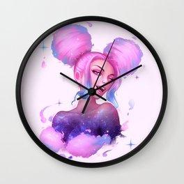 Cotton Candy Nebula Wall Clock