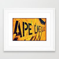 ape Framed Art Prints featuring Ape by Michael S.