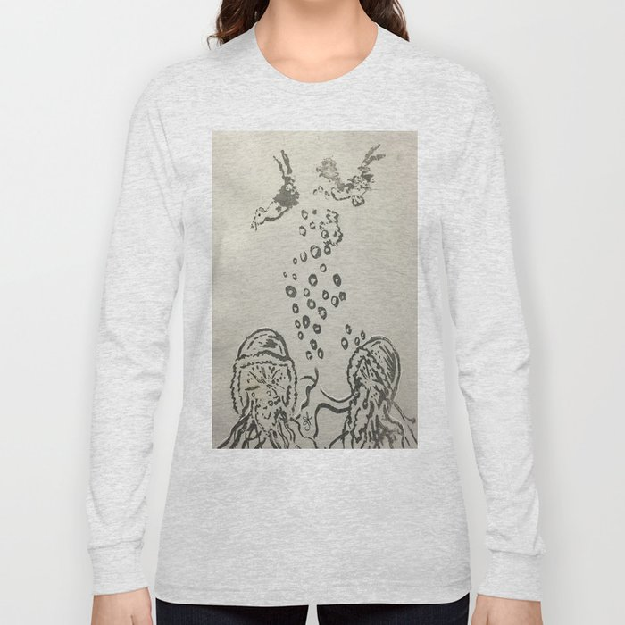 Under The Sea Sketch Long Sleeve T-shirt