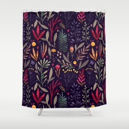 Botanical pattern Shower Curtain