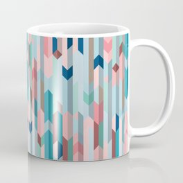 Blue & Pink Chevron Pattern Coffee Mug