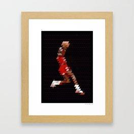 PIXEL ART MJ Framed Art Print