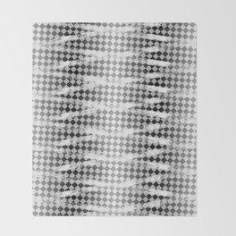 Slim Look Leggings Checkers White Paint Stripes Pattern Throw Blanket