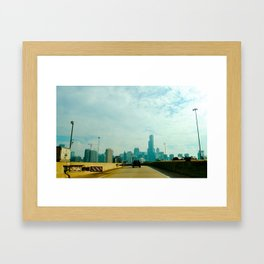 Chicago by car Framed Art Print