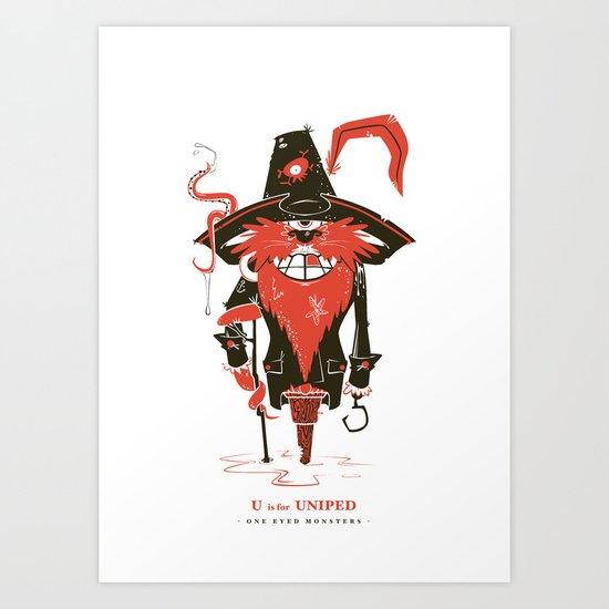 U is for Uniped Art Print