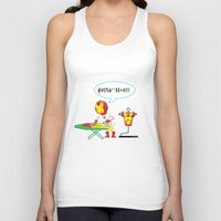 superheros Tank Tops featuring Ironing Man by Seedoiben