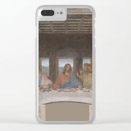 """Leonardo da Vinci """"The Last Supper"""" Clear iPhone Case"""