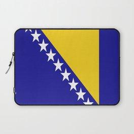Flag of Bosnia – Bosnian,Bosniak,herzegovinian,bosna,Sarajevo,Balkan,yugoslavia. Laptop Sleeve