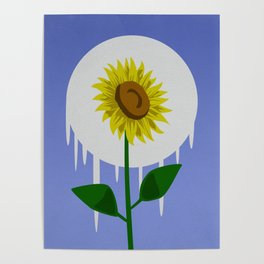 Sunflower in the Moon Poster
