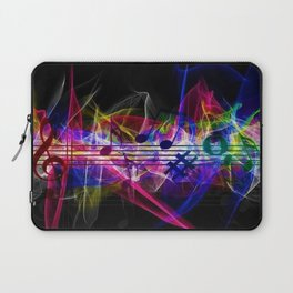 Colorful musical notes and scales artwork Laptop Sleeve