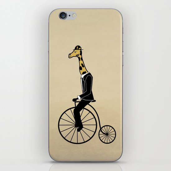 Penny Farthing Giraffe iPhone Skin