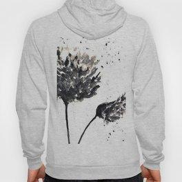 Black and white flower art Hoody