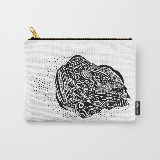 Hong Kong Dim Sum Wonton Doodle in BW Carry-All Pouch