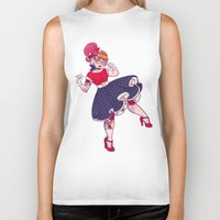 rockabilly Biker Tanks featuring Rockabilly Futakuchi Peggy by Gunkiss