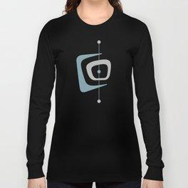 Retro Abstract Mid Century Modern Organic Pattern Long Sleeve T-shirt