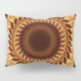 Brown Tan Gold Kaleidoscope Art 5 Pillow Sham