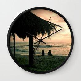 Windansea at Sunset Wall Clock