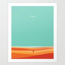 Where the sea meets the sky Art Print