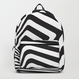 Black And White Optical Illusion Retro Graphic Backpack