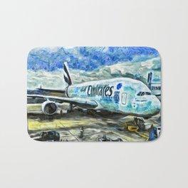 Emirates A380 Airbus Art Bath Mat