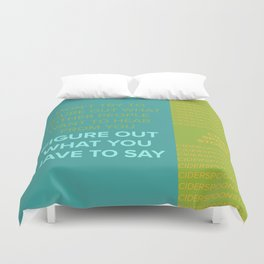 CIDER SPOON  Duvet Cover