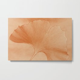 Gingko Leaf Metal Print