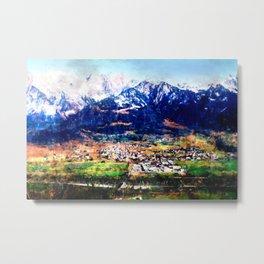 village under mountain Metal Print