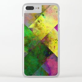 Dark Diamonds - Textured, patterned painting Clear iPhone Case