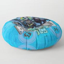 "Ars Tarot of the 12 Zodiac: ""Pisces - The Moon"" Floor Pillow"
