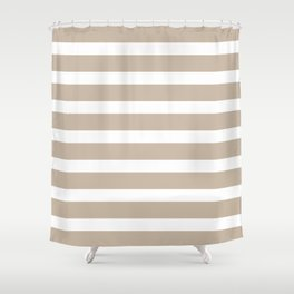 Brown horizontal stripes Shower Curtain