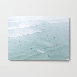 Tiny Surfers from the Sky 2, Lima, Peru Metal Print