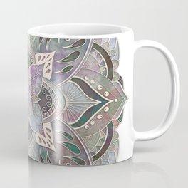 Embossed Green and Purple Mandala Coffee Mug