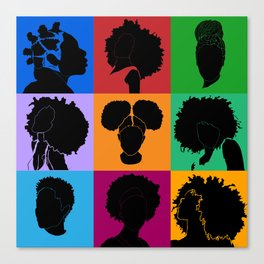 FOR COLORED GIRLS COLLECTION COLLAGE Canvas Print