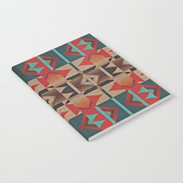 Native American Indian Tribal Mosaic Rustic Cabin Pattern Notebook