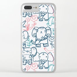 Elephant Parade Clear iPhone Case