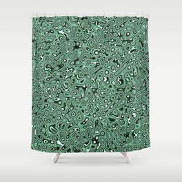 Abstract fractal green marbleized psychedelic plasma Shower Curtain