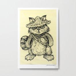 Tanuki - Mythical Japanese Animal Series Metal Print