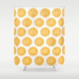 Orange Slice Pattern 1 - Tropical Pattern - Tropical Print - Lemon - Orange - Fruit - Tangerine Shower Curtain