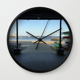 Provincetown pier Wall Clock