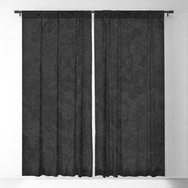 Marble Granite - Classic Sleek Slate Charcoal Black Blackout Curtain
