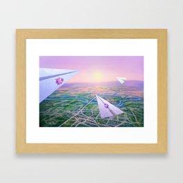 Fly to the Sun Framed Art Print