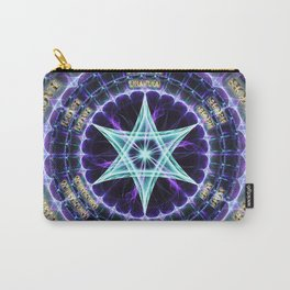 Happy Life Blue Purple Star Carry-All Pouch