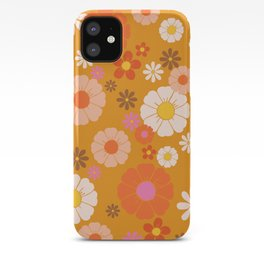 Groovy Mod 60's Flower Power iPhone Case