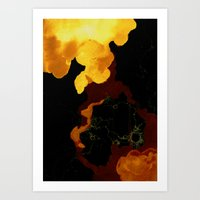 Yellow and Red Art Print