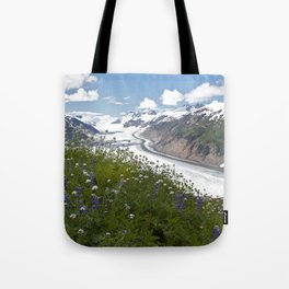 Glacial Flowers Tote Bag