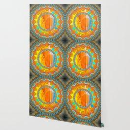 Moon and Sun Mandala Design Wallpaper