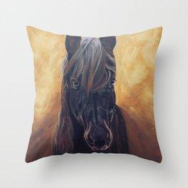 Friesian Spirit Throw Pillow