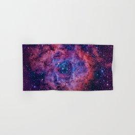 The Rosette Nebula, Caldwell 49, H II region Hand & Bath Towel